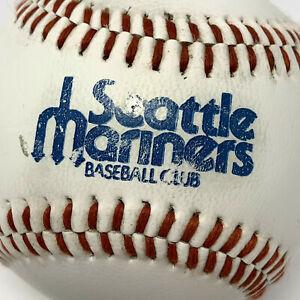 Vintage MLB Seattle Mariners Baseball Club Pitchfork Logo Souvenir Baseball