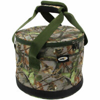 NGT CAMO BAIT BIN BUCKET HANDLES PLUS ZIP TOP FOR BOILIES PELLETS CARP FISHING