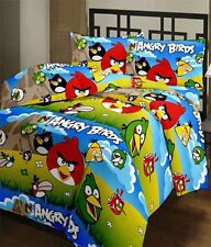 SA Collection's Angry Bird PolyCotton Single Bedsheet with 1 Pillow Cover