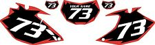 2007-2013 Yamaha WR250F Pre-Printed Black Backgrounds with Red Shock Series
