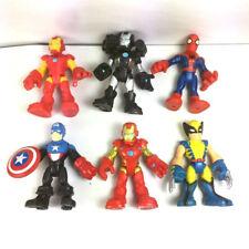 "Lot 6pcs PlaySkool Heroes Marvel Super Hero Squad 2.5"" War Machine Spiderman Toy"