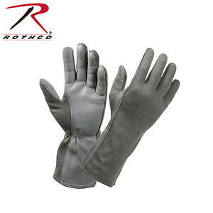 Rothco 3473 G.I. Type Flame & Heat Resistant Flight Gloves - Foliage Green