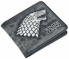 Game of Thrones STARK  Winter Is Coming Wallet  - black NEW OFFICIAL