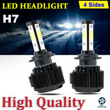2x Canbus H7 4Side LED Headlights Kit Bulb Hi/Low Beams 300W 48000LM 6000K Light
