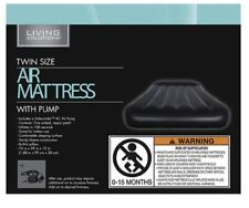 Living Solutions Air Mattress Twin with Inflatable pump