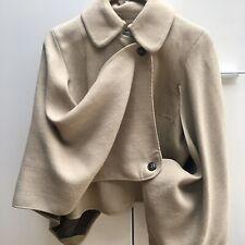 Karen Millen Camel Beige Wool Winter Poncho Cape Jacket Coat Size UK 14 RACING