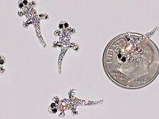 1pc Glass miniature dollhouse tiny little silver lucky crystal Lizard Geckos