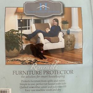Armchair Reversible Quilted Recliner Chair Cover Protector Microfiber 75x65