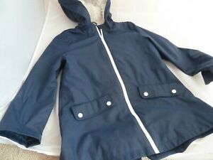 M&S MARKS AND SPENCER FLEECE LINED COAT / RAINCOAT SIZE 9-10 YEARS