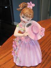 Enesco Flower Dream Girl 8 inch Planter Vintage