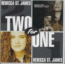 2 CD SET-REBECCA ST. JAMES-TWO FOR ONE-CHRISTIAN POP-STILL FACTORY SEALED-NEW