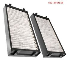 AC Cabin Air Filter Charcoal Carbon Fit BMW E70 E71 X5 X6 3.0L 4.4L (2pcs)