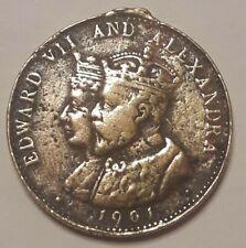 ==>> Coronation June 26th 1902 Edward VII & Alexandra 1901 Antique Medal <<====
