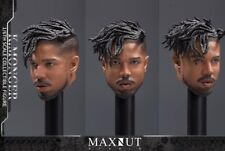 "1/6 MAXNUT STUDIO K.MONGER Erik Killmonger Peace Ver. Head Sculpt For 12"" Figure"