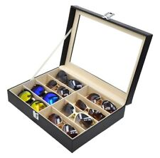8 Slots Faux Leather Glasses Display Storage Case Box Sunglasses Organizer