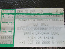 Deftones Incubus 2000 Comp ticket stub Santa Barbara Bowl