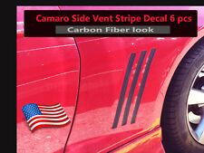 Camaro SS RS LS Side Vent Gill Inserts Vinyl Stripes 2010-2015 *CARBON FIBER