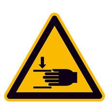 Warnschild Warnung vor Handverletzungen /  SL 100 mm /Folienaufkleber 21.0330