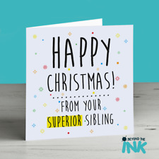 Funny Christmas Card For Brother - Funny Christmas Card For Sister - Sibling