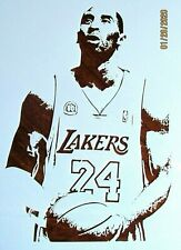 Kobe Bryant Stencil/Template Reusable 10 mil Mylar Basketball Lakers MVP Player