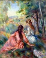 In the meadow by Pierre-Auguste Renoir Giclee Fine Art Print Repro on Canvas