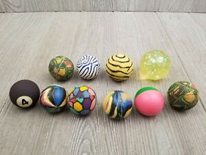 Lot of 10 Vintage Super Balls Bouncy Balls