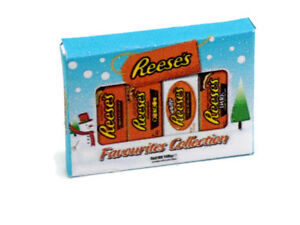 1:12th Dolls House Miniature Reese`s chocolate selection box-Christmas-sweets