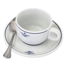 Genuine Italian army air force Porcelain Italy espresso coffee cup and saucer