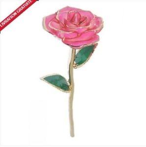Rose  en or véritable 24 carats pour cadeaux de Saint-Valentin, Noël et .....