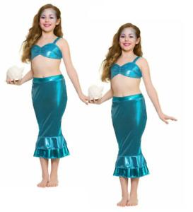 Little Mermaid Fairytale Fancy Dress Costume Childs Girls Princess Kids S-L
