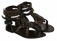 LADIES LEATHER STRAPPY SUMMER/BEACH/CASUAL ANKLE BUCKLE STRAPS SIZE 5