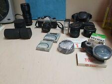 ASAHI PENTAX SPOTMATIC SP Film Camera W/TAKUMAR 50mm f/1.4 Lens * + TONS EXTRAS