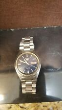Seiko 5 vintage Men's Automatic Wristwatch with Day/ Date and Cobalt Blue Dial