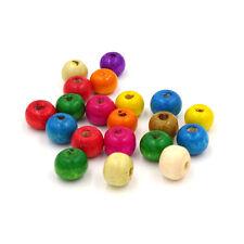 50 perles en bois brillant 7mm couleur mixte 7 mm perle bijoux bracelet collier