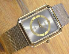 Bulova Swiss 7Jewels Men's Quartz Wrist Watch NOS w/ Tags / Abstract Dial