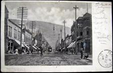 CANADA~1904 NELSON  B.C. ~ Un-Paved BAKER STREET ~ TROLLEY & MORE