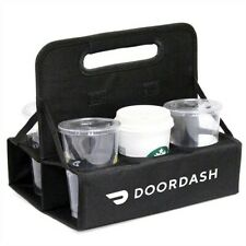 New Doordash Official Foldable Drink Carrier 6 cups of beverage Delivery Driver