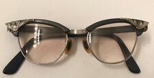 Vintage 1950's cat eye glasses, Universal, plastic and aluminum frame small
