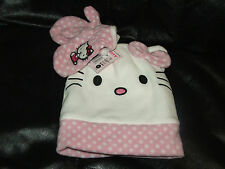 HELLO KITTY HAT AND MITTENS SET BRAND NEW W/TAGS KIDS 6YRS & UNDER RETAIL $20