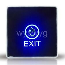 Wall Mount Touch Sensor Exit Button Switch NC NO COM For Door Access Control