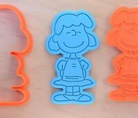 Lucy van Pelt - The Peanuts - Cookie Cutter and Stamp Set - 3d printed plastic