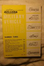 Military Vehicle Data Number 3 Bellona Publications VGC Conniford rare