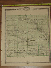 1875 Atlas - Butler & Blackhawk County, Reversable Iowa Map ORIGINAL - Waterloo
