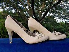 POETIC LICENCE Cinderella Glass High Heels Pumps Wedding Shoes Womens Sz 6 👠b2
