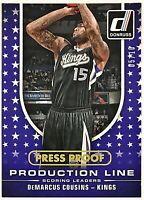 2014-15 Donruss DeMarcus Cousins #'d 5/10 Press Proof GOLD Kings Kentucky Lakers