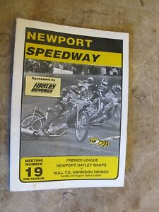 1998 Motorcycle Speedway Programme - Newport Wasps v Hull Vikings