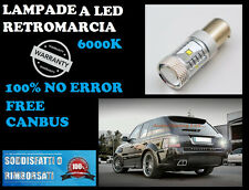 COPPIA LAMPADA RETROMARCIA LED P21W BA15S CANBUS 6000K NO ERROR PEUGEOT 207