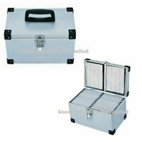 300 Neo DJ Aluminium Flight Silver Color Carry Case Numbered Sleeves CD Storage