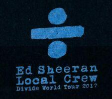 "Ed Sheeran ""Divide World Tour 2017 Local Crew"" Vintage T-Shirt LG Taylor Swift"