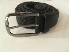 NWT Giorgio Armani - braided calfskin black leather belt - size XL (52 IT)